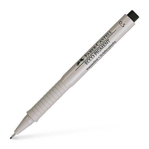 Faber Castell 166599 0.5 mm'Ecco Pigment' Fibre-Tip Pen - Black
