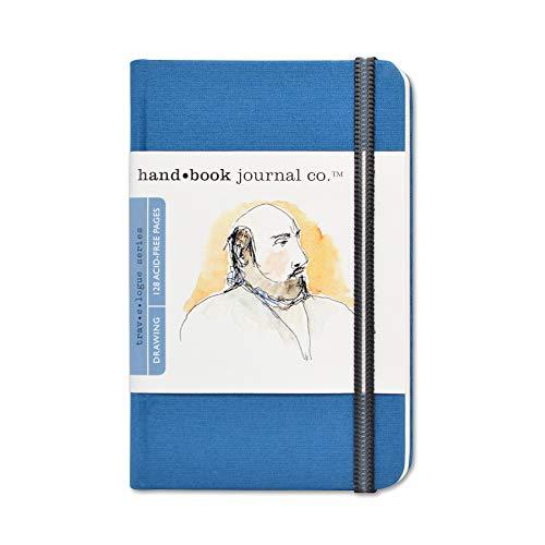 Travelogue Drawing Book, Pocket Portrait 5-1/2 x 3-1/2, Ultramarine Blue Artist Journal