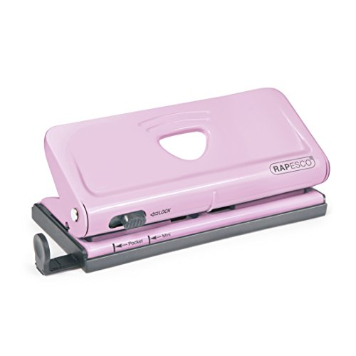 Rapesco Adjustable 6-Hole punch for Planners and 6-Ring Binders - Pink, 320 feet (1322)