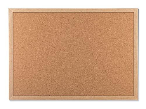 U Brands Cork Bulletin Board, 23 x 17 Inches, Light Birch Wood Frame (265U00-01)