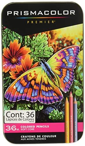 Prismacolor 92885T Premier Colored Pencils, Soft Core, 36 Piece