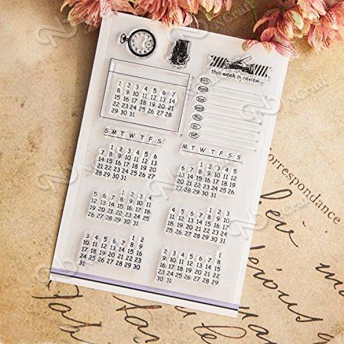DzdzCrafts Calendar Planner DIY Clear Stamps for Card Making Scrapbooking Album Journal