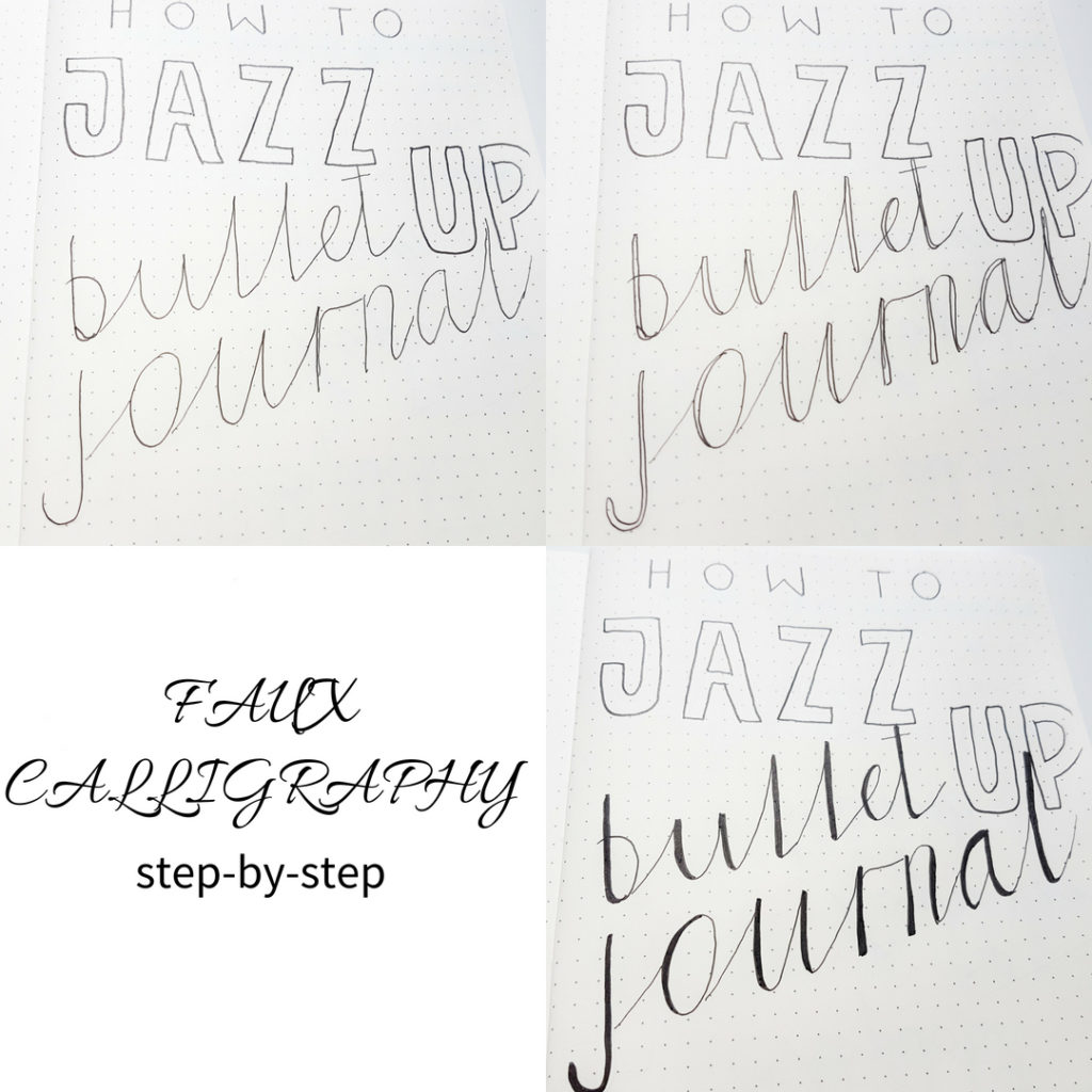 bullet-journal-fonts-faux-calligraphy