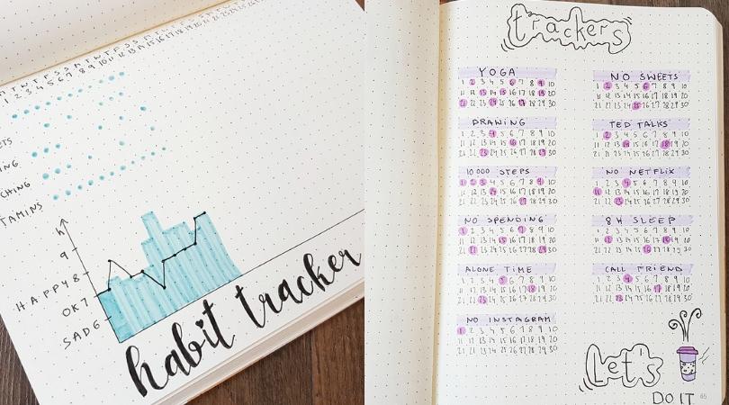bullet journal tracker ideas-habits