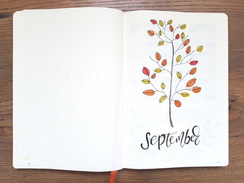 september bullet journal cover ideas