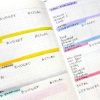 Bullet Journal Budget Spreads