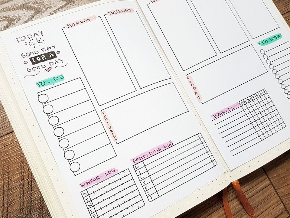 This is a picture of Effortless Free Bullet Journal Printables 2020 Pdf