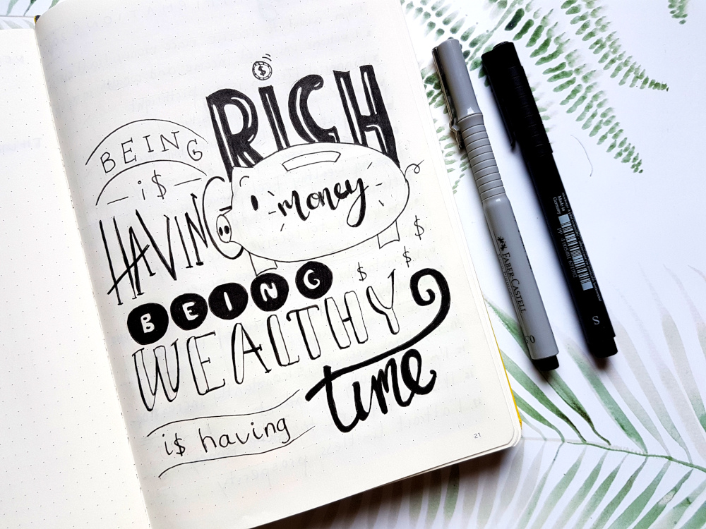handlettering quote bujo