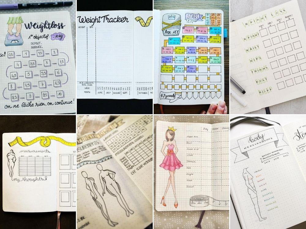 fitness journal spread notebook
