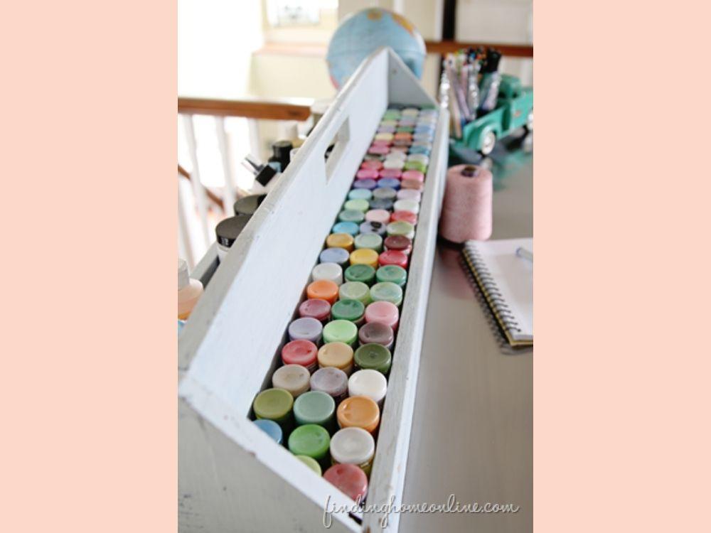 diy paint organization ideas