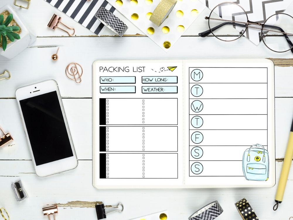 planner packing list template
