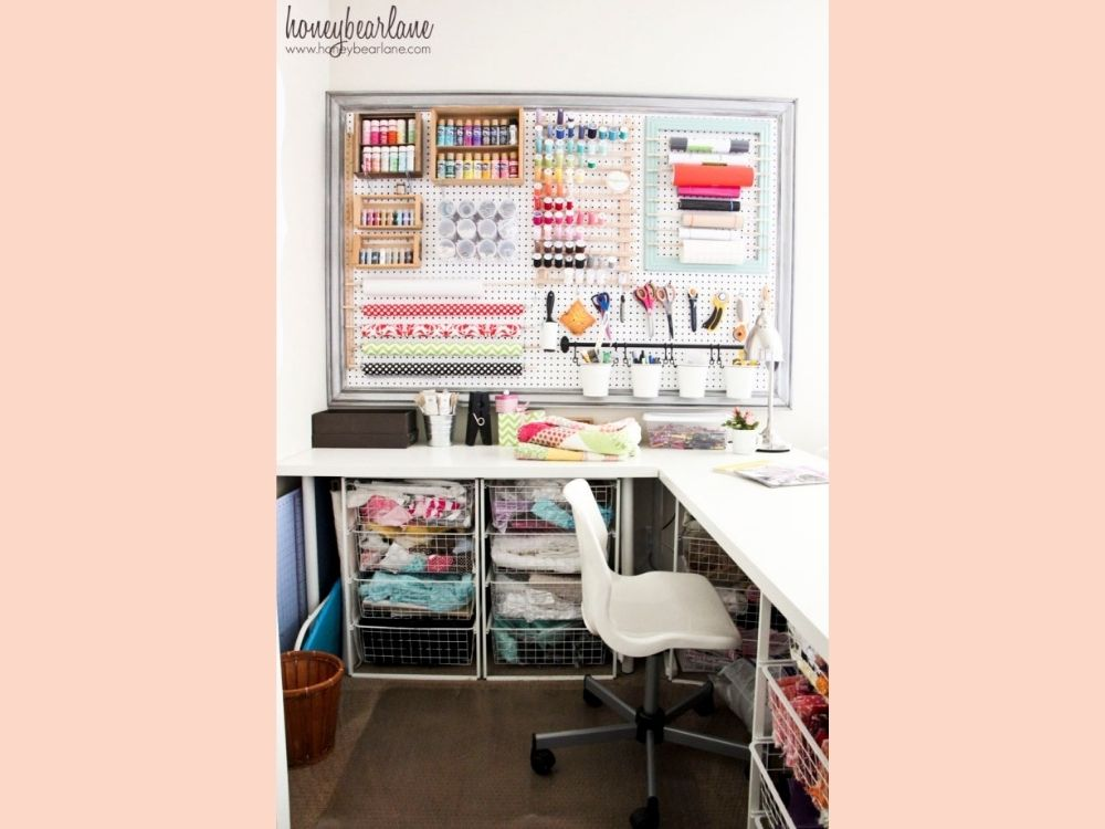 cute sewing room inspiration