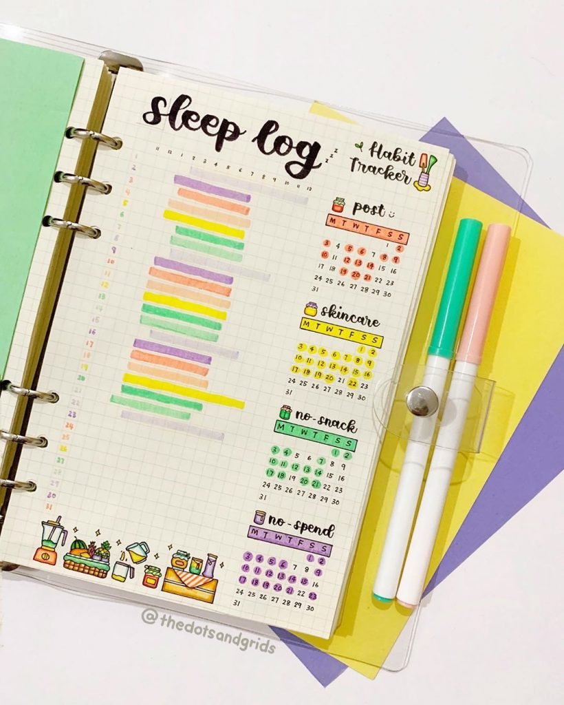sleep tracker habits bujo