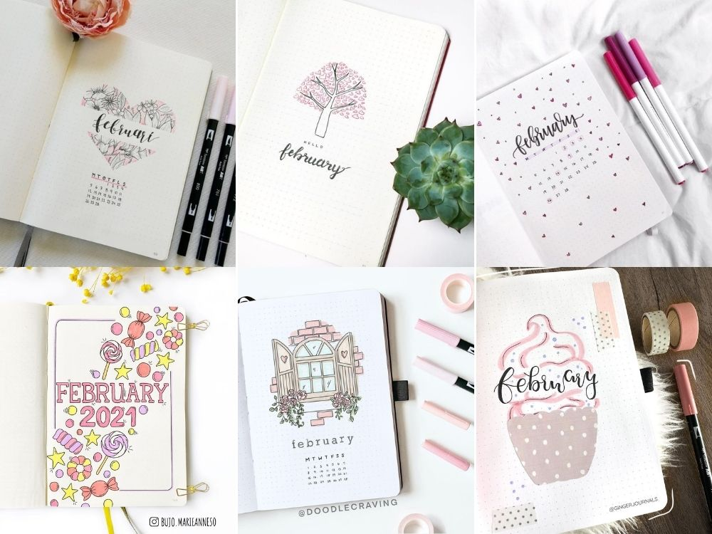 february planner ideas theme