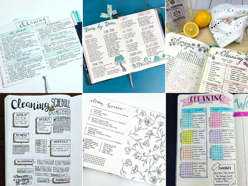 spring cleaning list bullet journal