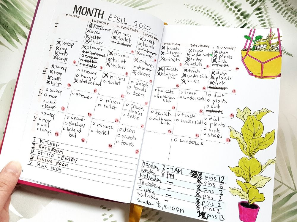monthly spread planner