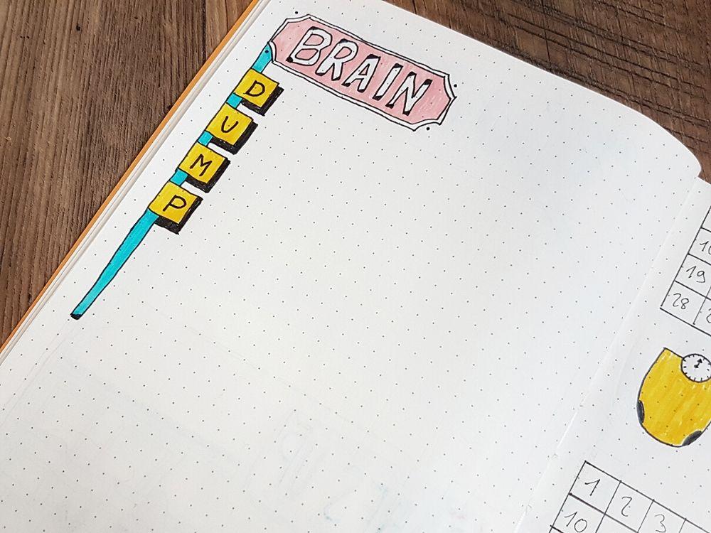 brain dump layout bullet journal work
