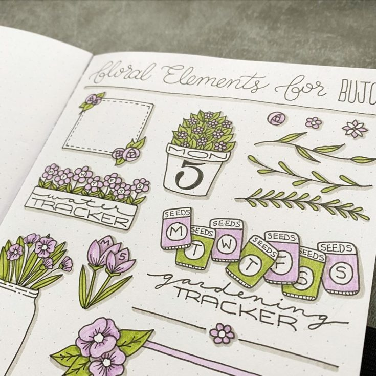 Easy Flower Doodles For A Bullet Journal With Tutorials Anjahome Access exclusive content on the intentional social network for all things bullet journal. easy flower doodles for a bullet