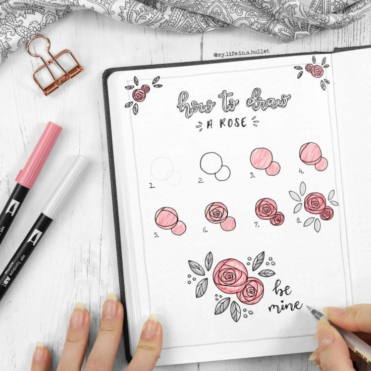 Easy Flower Doodles For A Bullet Journal With Tutorials Anjahome