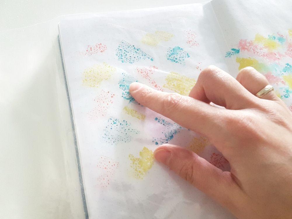 watercolor effect bujo tombow