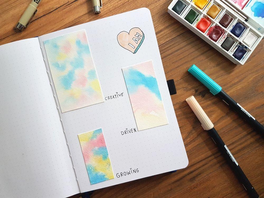 watercolor bullet journal ideas