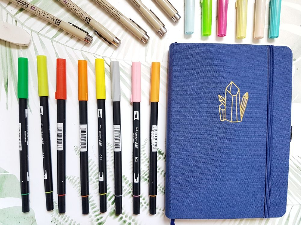 bullet journal pens notebook brush markers