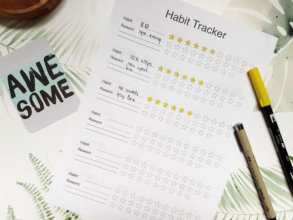 habit tracker with star reward