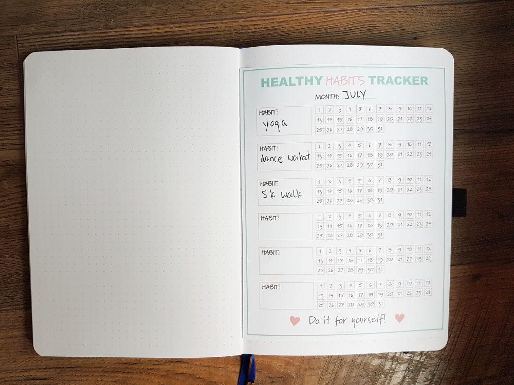 habit tracker template monthly
