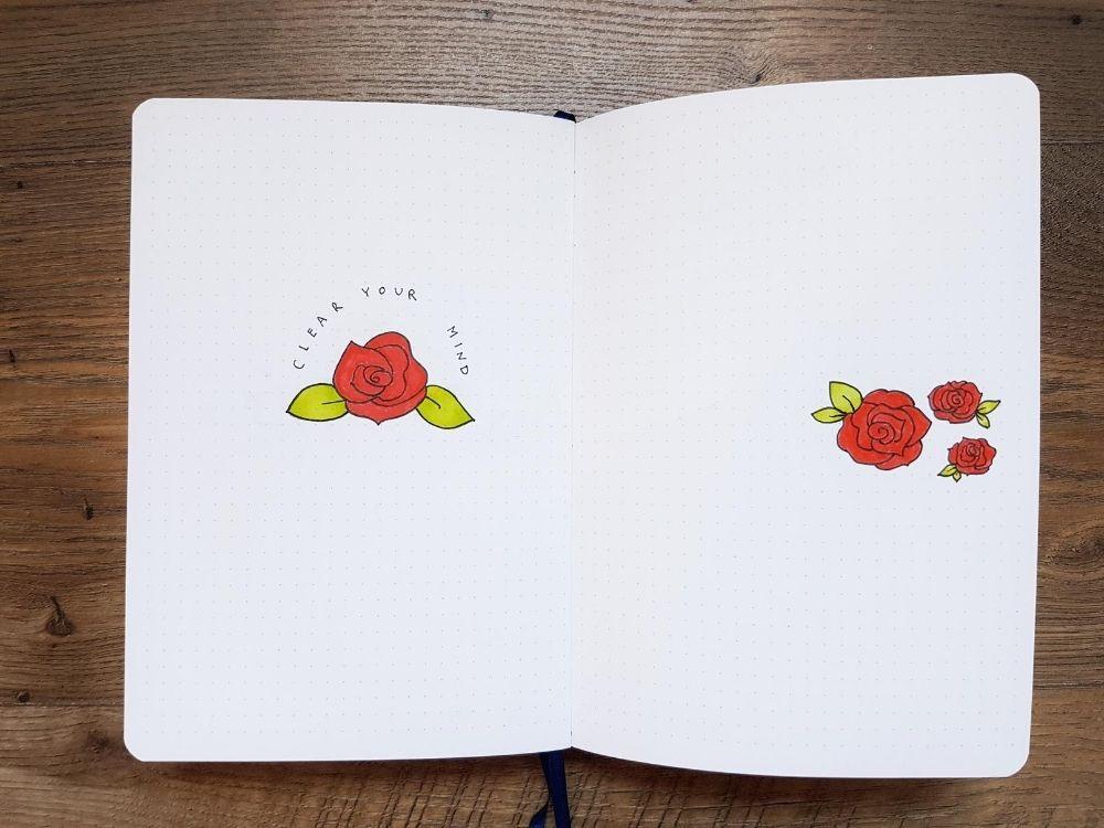 rose doodles floral drawings