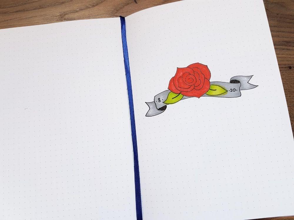 rose doodle ribbon banner