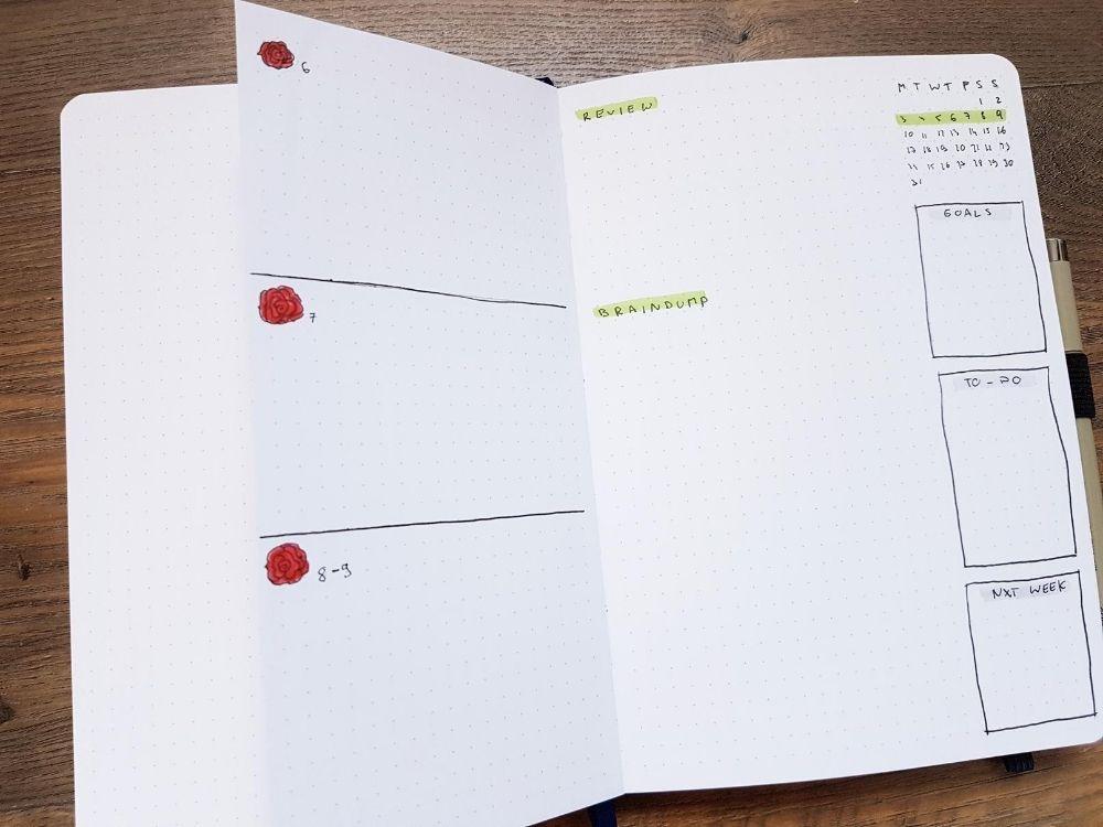 review page mini calendar