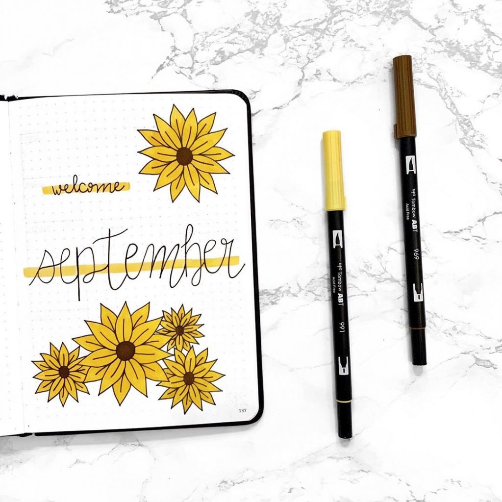 Sunflower Theme Monthly Cover