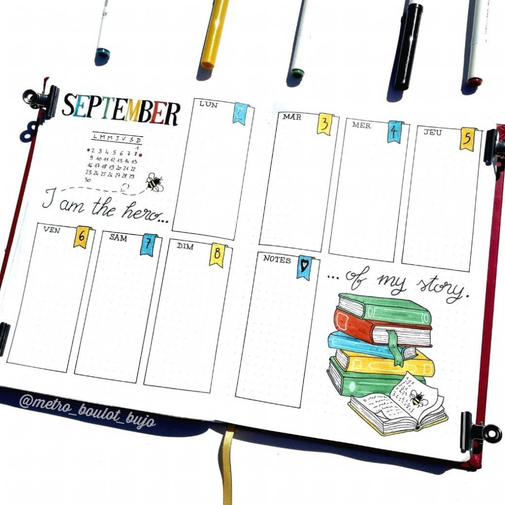 back to school weekly pages