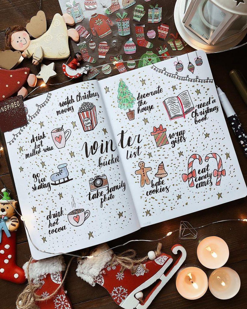 bucket list christmas bujo