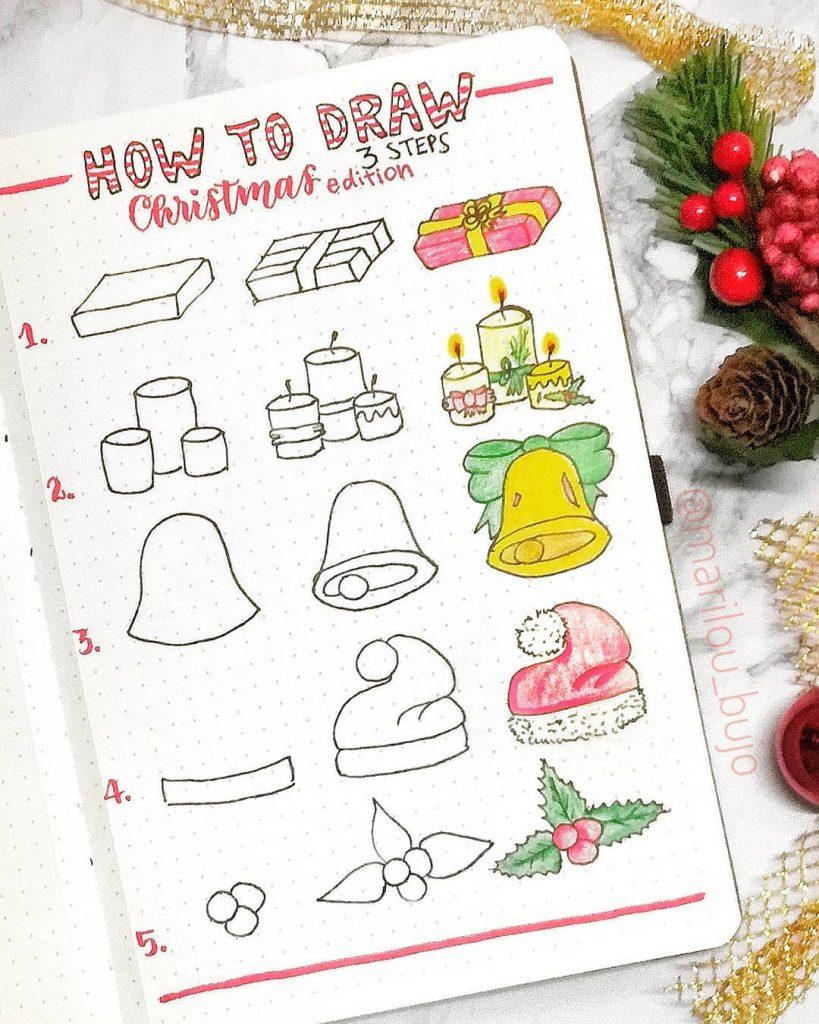bujo drawings december