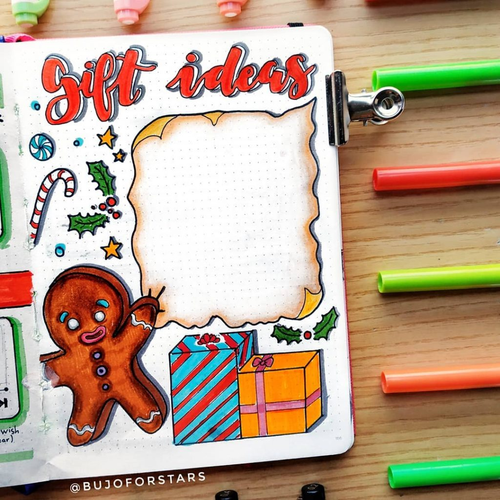 bullet journal gift list