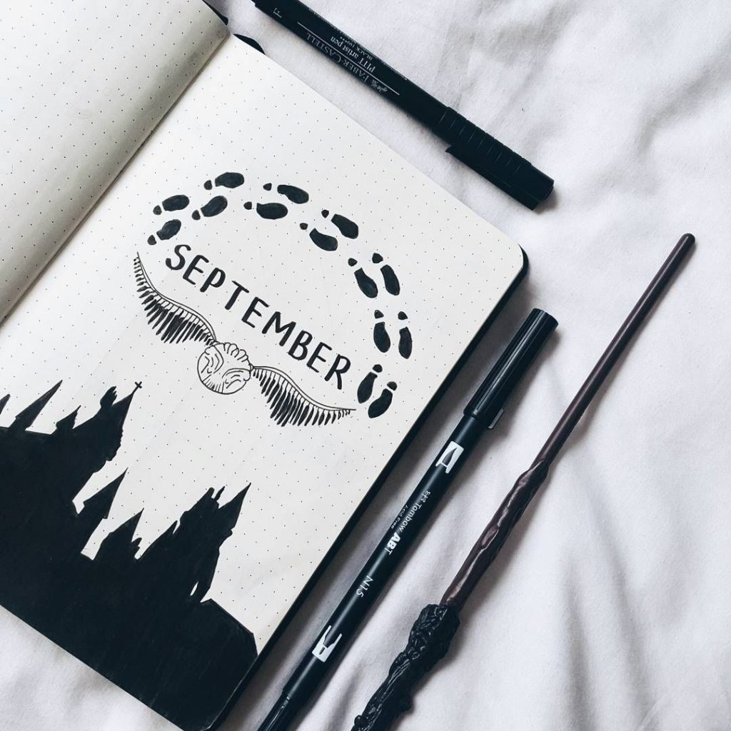 september harry potter cover page