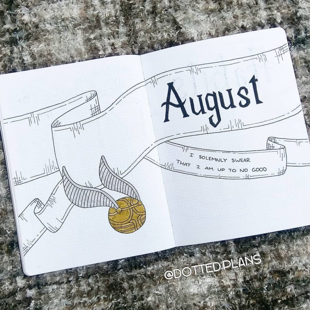 quidditch cover page august bujo
