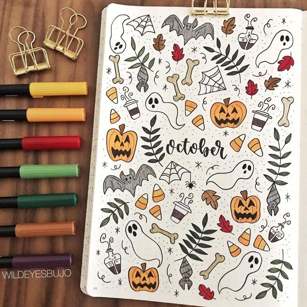 Halloween hello october page