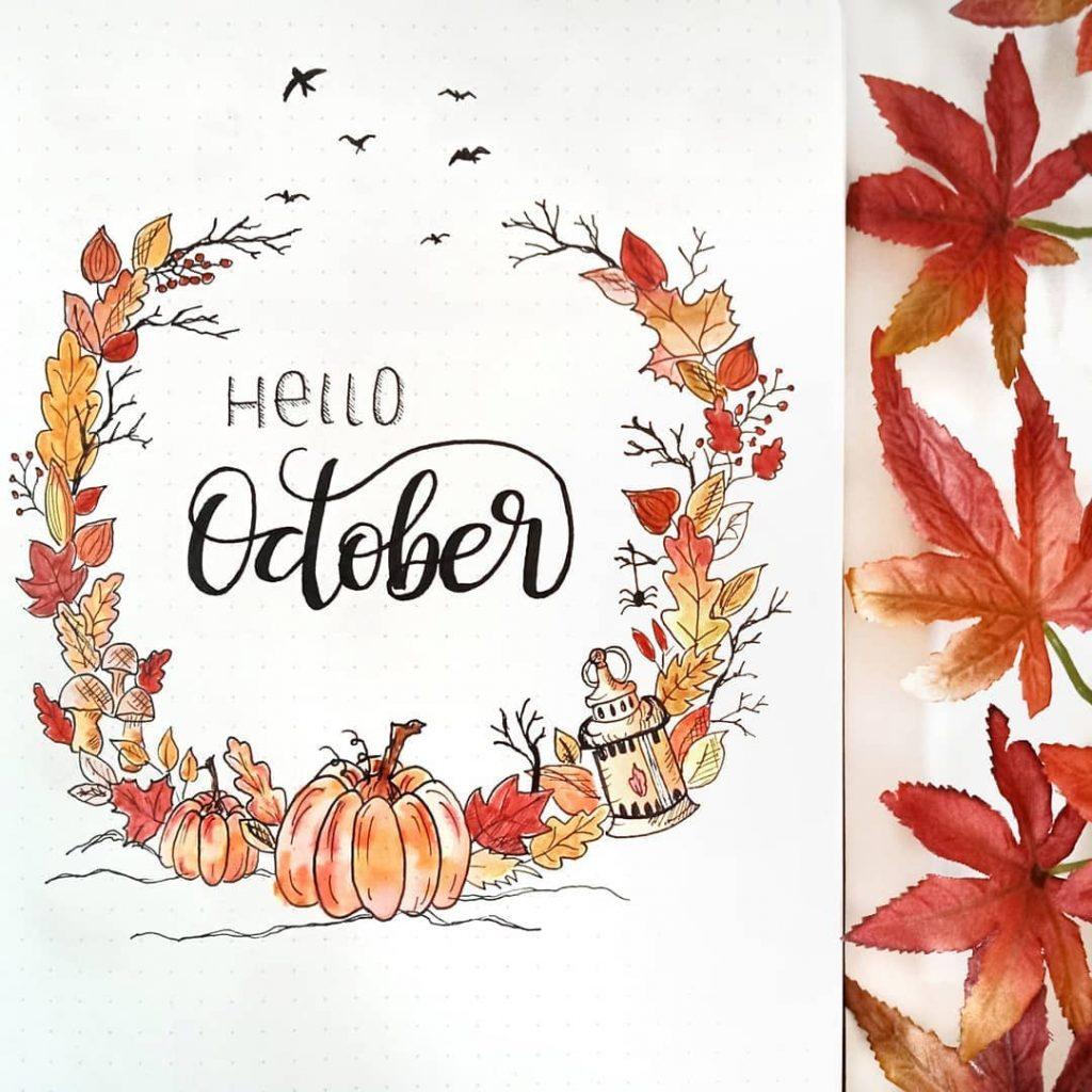 Hello October Bullet Journal Cover