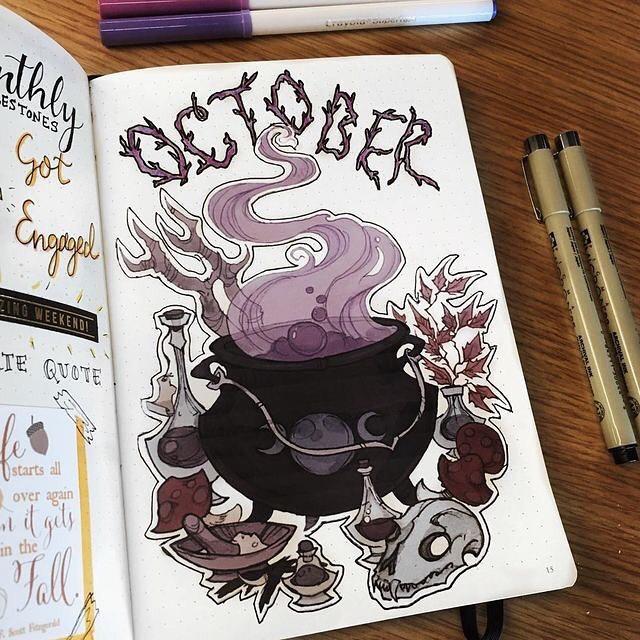 Fall October Bullet Journal