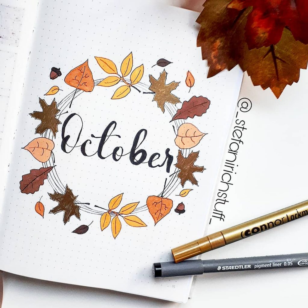 October Bullet Journal Cover Ideas 2020 Update Anjahome