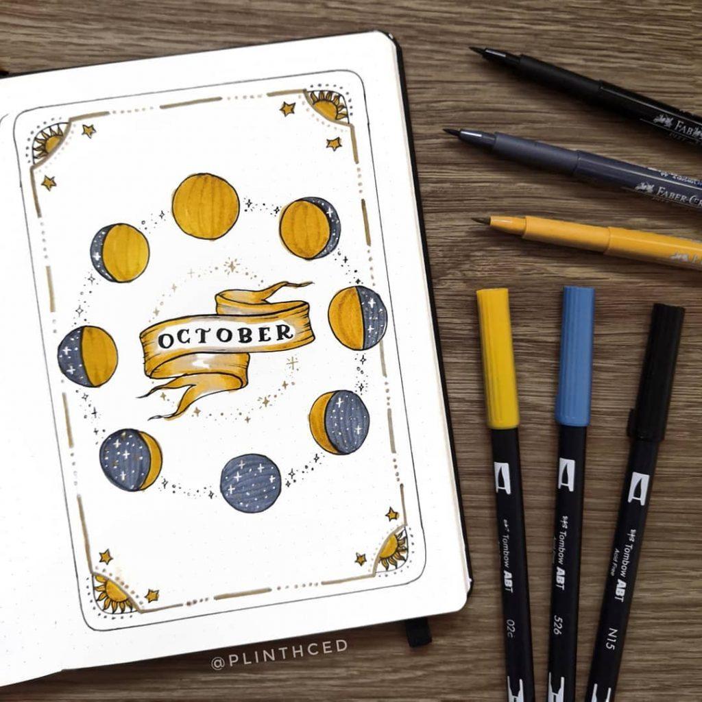 Hello October Bujo Page
