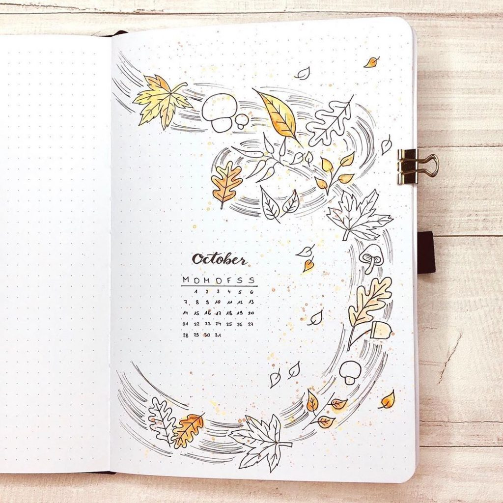 Leaves October Monthly Cover