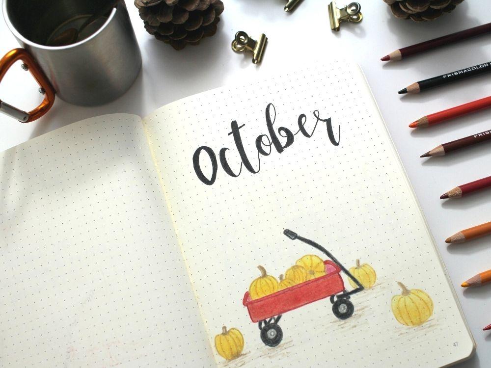pumpkin October bullet journal theme
