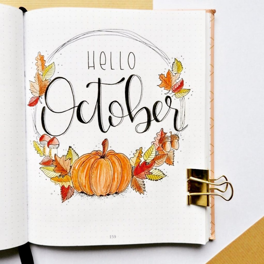 Hello October Planner Cover Pages