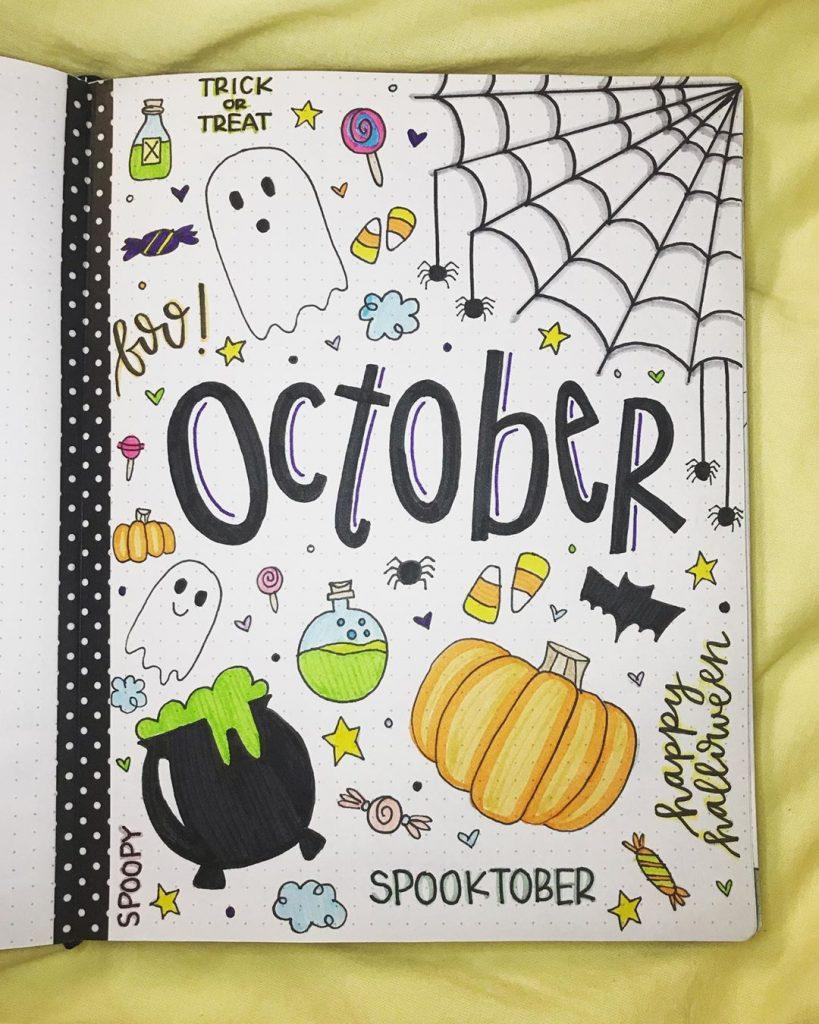 Spooky Bullet Journal for October