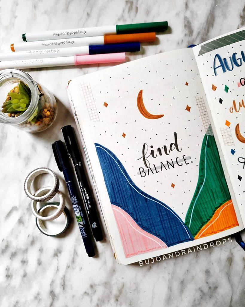 inspirational quotes bullet journal mountain theme