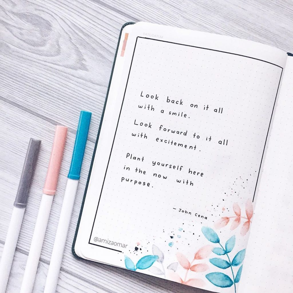 best bullet journal quotes