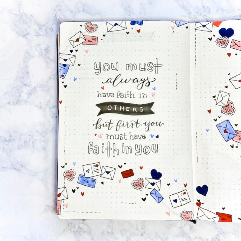 love bullet journal quote